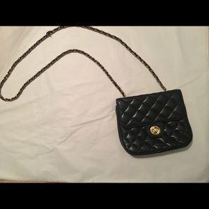 Bloomingdales black quilted purse